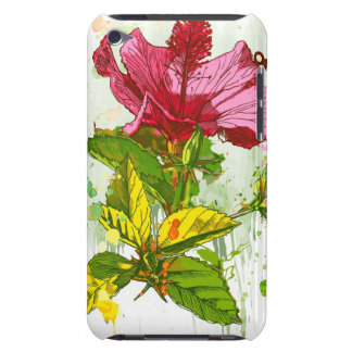 Hibiscus flower - watercolor paint barely there iPod cover