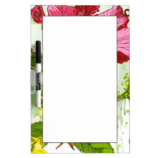 Hibiscus flower - watercolor paint dry erase board