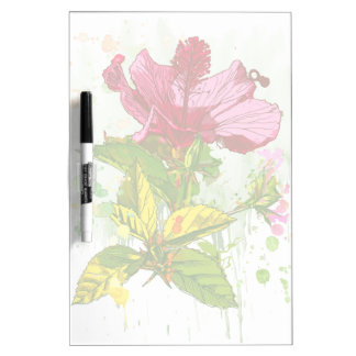Hibiscus flower - watercolor paint Dry-Erase whiteboards