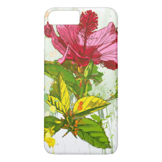 Hibiscus flower - watercolor paint iPhone 8 plus/7 plus case