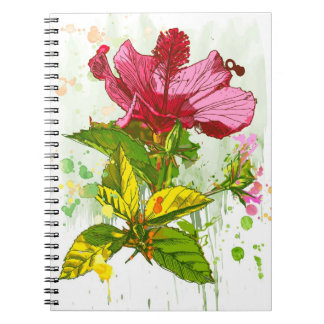 Hibiscus flower - watercolor paint note books