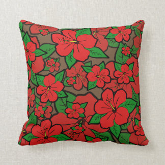 Hibiscus Flowers #1 Cushion