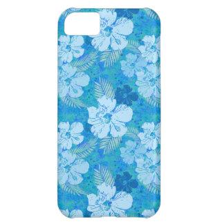 Hibiscus Flowers Blue Batik iPhone 5C Case