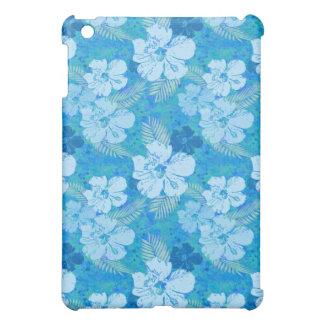 Hibiscus Flowers Blue Batik iPad Mini Cover