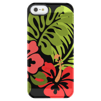 Hibiscus Flowers Clear iPhone SE/5/5s Case