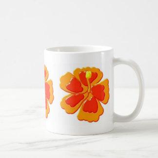hibiscus flowers coffee mug