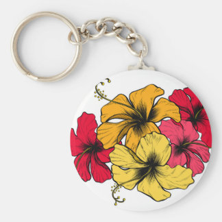 Hibiscus Flowers Key Ring