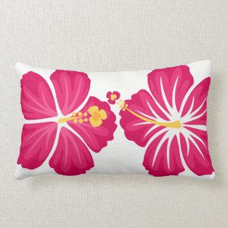 Hibiscus Flowers Lumbar Cushion