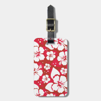 Hibiscus Flowers Pattern Luggage Tag