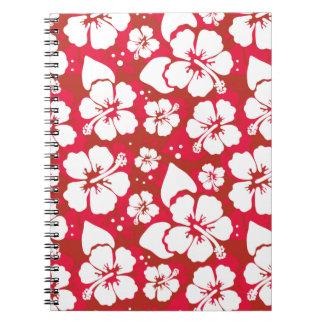 Hibiscus Flowers Pattern Notebook
