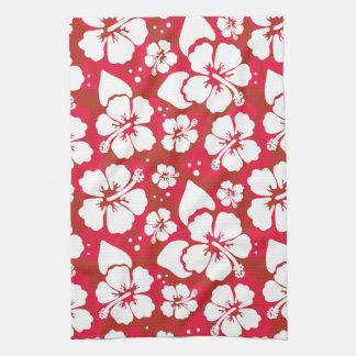 Hibiscus Flowers Pattern Tea Towel