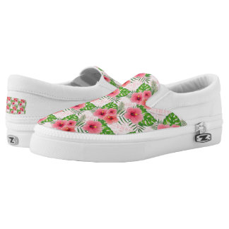Hibiscus Flowers Slip-On Shoes