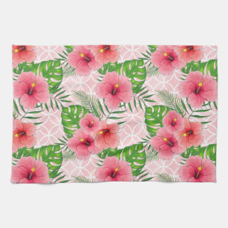Hibiscus Flowers Tea Towel