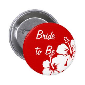 Hibiscus Flowers Wedding 6 Cm Round Badge