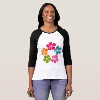 Hibiscus Flowers Wreath T-Shirt