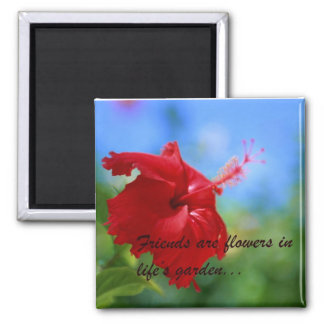Hibiscus Friendship Quote Magnet