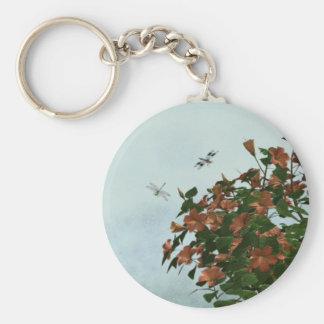 Hibiscus Garden Keychain
