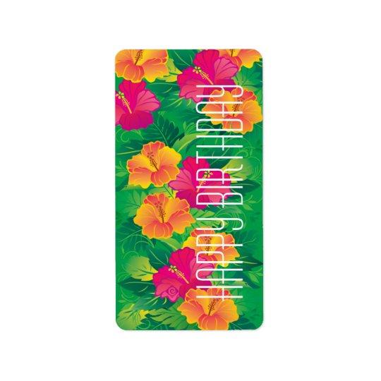 hibiscus garden ~ label address label