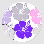Hibiscus Gifts Round Stickers