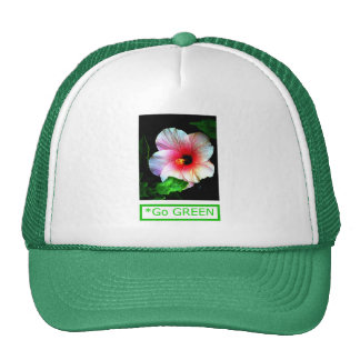 Hibiscus Go Green 1 The MUSEUM Zazzle Gifts Cap