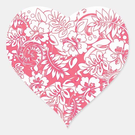 Hibiscus_Growth Heart Sticker
