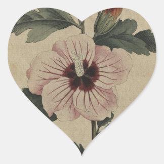 Hibiscus Heart Sticker