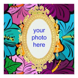 Hibiscus Hula 13 Cm X 13 Cm Square Invitation Card