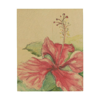 Hibiscus II Wood Wall Decor