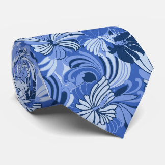Hibiscus Jungle Floral Hawaiian Tie