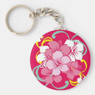 Hibiscus Key Ring