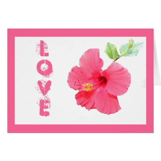 Hibiscus Love Customisable Greeting Card