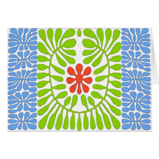 Hibiscus, Matisse Homage Leaf Card
