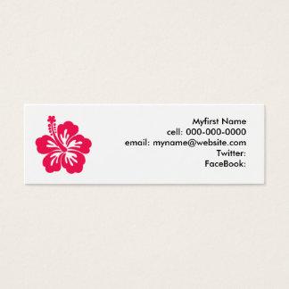 Hibiscus Mini Business Card