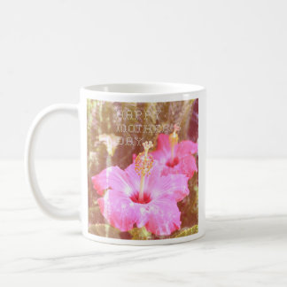 Hibiscus Mother's Day Coffee Cup Basic White Mug