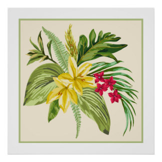 Hibiscus Native Hawaiian Flower Poster
