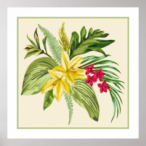 Hibiscus Native Hawaiian Flower Poster