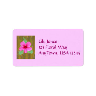 Hibiscus on Bamboo Address Label