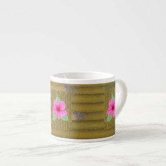 Hibiscus on Bamboo Espresso Mug