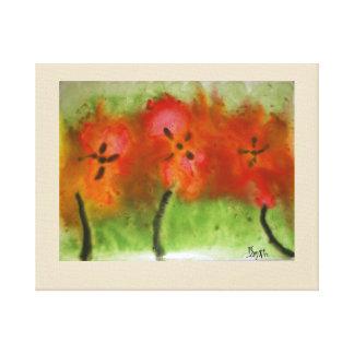 Hibiscus Painting Canvas Print