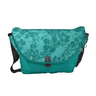 Hibiscus Pareau Hawaiian Medium Messenger Bag
