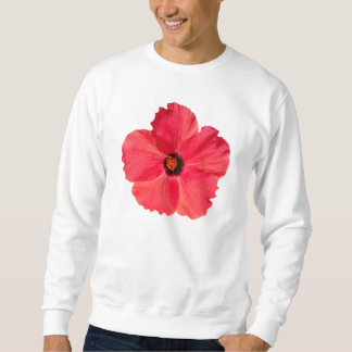 Hibiscus - Personalized Tropical Hot Pink Flower Sweatshirt
