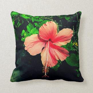 Hibiscus pillow