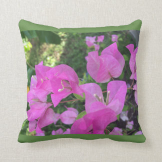 Hibiscus pillow throw