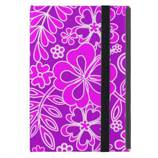 Hibiscus Pink and Purple Pattern iPad Mini Cover