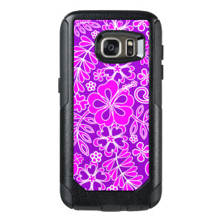 Hibiscus Pink and Purple Pattern OtterBox Samsung Galaxy S7 Case