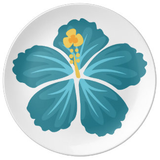 Hibiscus Plate