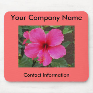 Hibiscus Promotional Mouse Mat