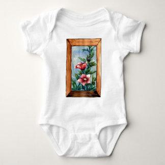 hibiscus rose baby bodysuit