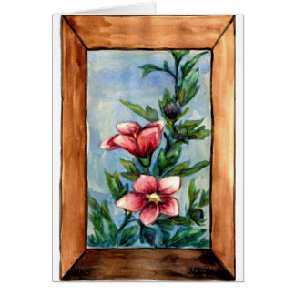 hibiscus rose card