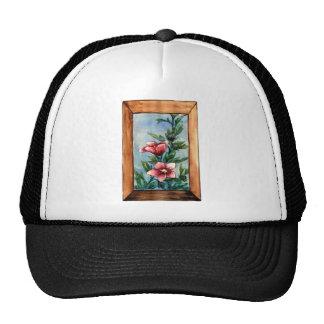 hibiscus rose mesh hat